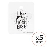 Love You To The Moon And Back Ear Stud Cards - Paper Packaging SD34083