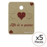 Life Is A Game Ear Stud Cards - Paper Packaging SD34092