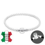 White - Leather Cord Bracelet for Beads SD25120