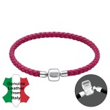 Fuchsia - Leather Cord Bracelet for Beads SD32601
