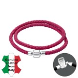 Leather Bead Bracelet With Silver Lock - Leather Cord Bracelet for Beads SD35635