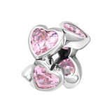 Heart - 925 Sterling Silver Beads with CZ/Crystal SD13995