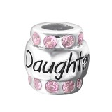 Daughter - 925 Sterling Silver Beads with CZ/Crystal SD19828