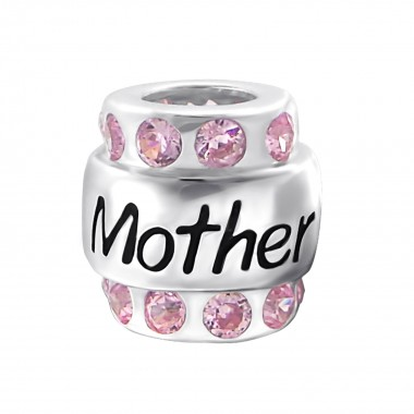 Mother - 925 Sterling Silver Beads with CZ/Crystal SD19829