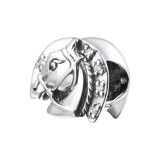 Horse - 925 Sterling Silver Beads with CZ/Crystal SD25116