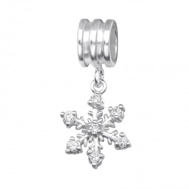 Snowflake - 925 Sterling Silver Beads with CZ/Crystal SD28870