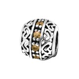 Heart - 925 Sterling Silver Beads with CZ/Crystal SD3765