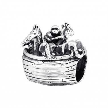 Animal Boat - 925 Sterling Silver Simple Beads SD10216