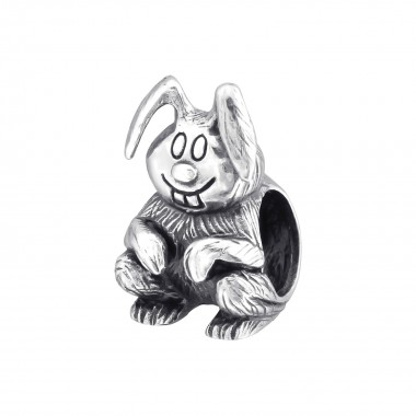 Bunny Rabbit - 925 Sterling Silver Simple Beads SD10225