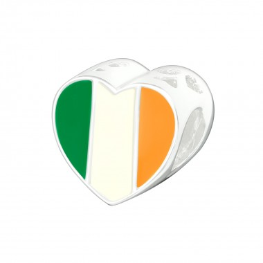 Irish Flag - 925 Sterling Silver Simple Beads SD22910