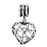 Hearts - 925 Sterling Silver Simple Beads SD28221