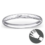 Round - 925 Sterling Silver Bangles SD22449