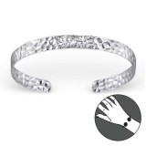Round - 925 Sterling Silver Bangles SD22451