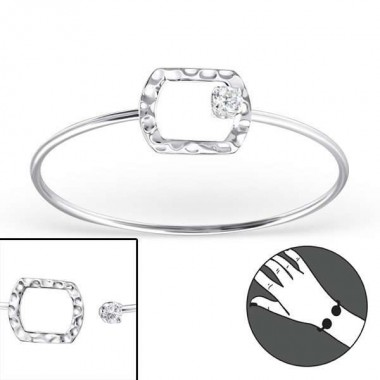 Rectangle - 925 Sterling Si...