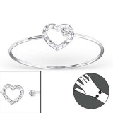 Heart - 925 Sterling Silver Bangles SD22965
