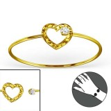 Heart - 925 Sterling Silver Bangles SD22966