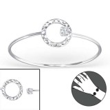 Round - 925 Sterling Silver Bangles SD22968
