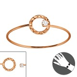 Round - 925 Sterling Silver Bangles SD22970