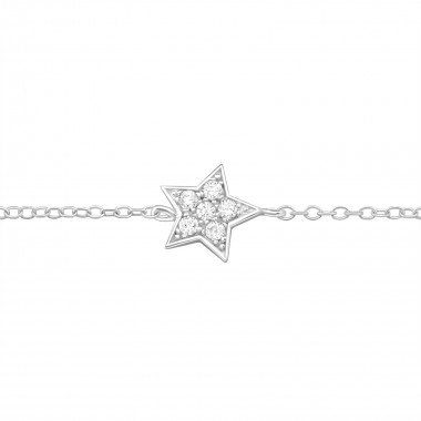 Star - 925 Sterling Silver Bracelets SD9276