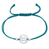 Aquarius Zodiac Sign - Nylon Cord Corded Bracelets SD39006