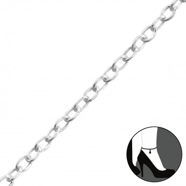 Plain - 925 Sterling Silver Silver Anklets SD1998
