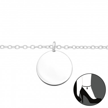 Circle - 925 Sterling Silver Silver Anklets SD42826