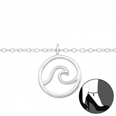 Wave - 925 Sterling Silver Silver Anklets SD42827