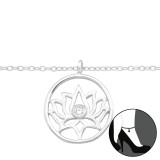 Lotus - 925 Sterling Silver Silver Anklets SD42857
