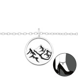 Mountain - 925 Sterling Silver Silver Anklets SD42860