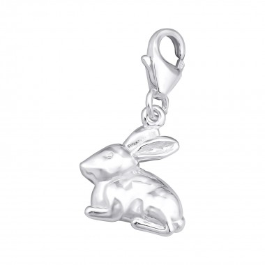 Rabbit - 925 Sterling Silver Clasp Charms SD69