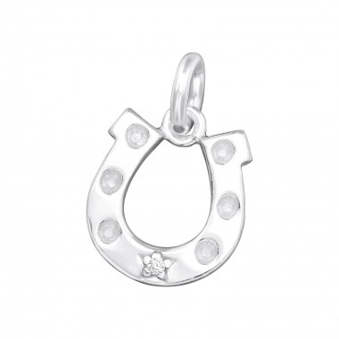 Horseshoe - 925 Sterling Silver Splitring Charms SD38690