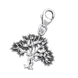 Tree - 925 Sterling Silver Clasp Charms SD27786