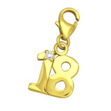 """""""18"""" - 925 Sterling Silver Clasp Charms SD29299"""
