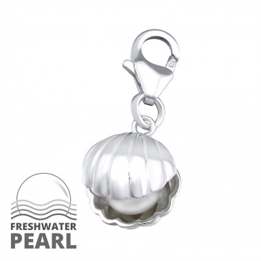 Shell - 925 Sterling Silver Clasp Charms SD34689