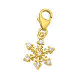 Snowflake - 925 Sterling Silver Clasp Charms SD42063