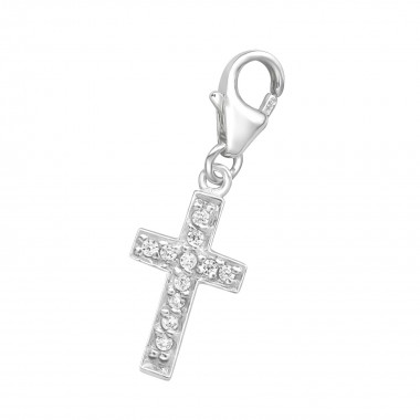 Cross - 925 Sterling Silver Clasp Charms SD72