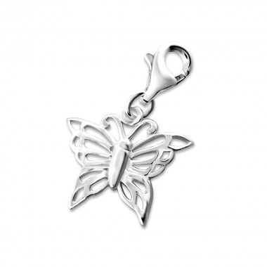 Butterfly - 925 Sterling Silver Clasp Charms SD8