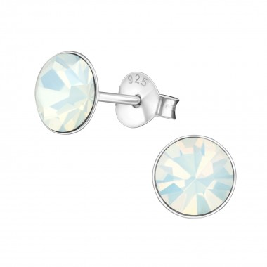 Round - 925 Sterling Silver Basic Stud Earrings SD1987