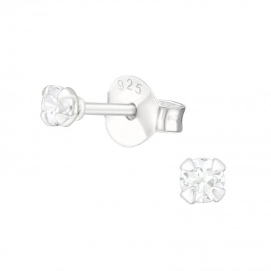 Round 2.5Mm - 925 Sterling Silver Basic Stud Earrings SD35416