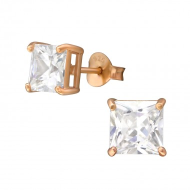 Square 6mm - 925 Sterling S...