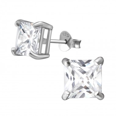 7mm Square - 925 Sterling S...