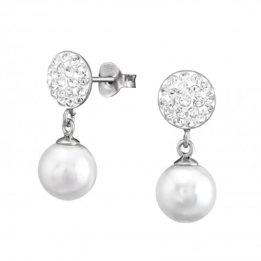 Round Hanging Pearl - 925 S...