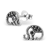 Elephant - 925 Sterling Silver Stud Earrings with CZ SD30805