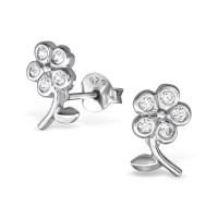 Stud Earrings with CZ