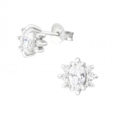 Sparkling - 925 Sterling Silver Stud Earrings with CZ SD36643
