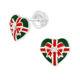 Gift Present - 925 Sterling Silver Stud Earrings with CZ SD40382