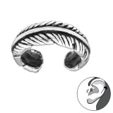 Feather - 925 Sterling Silver Cuff Earrings SD30584