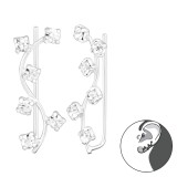 Branch - 925 Sterling Silver Cuff Earrings SD37405