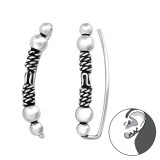Bali - 925 Sterling Silver Cuff Earrings SD37841
