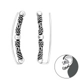 Bali - 925 Sterling Silver Cuff Earrings SD39089